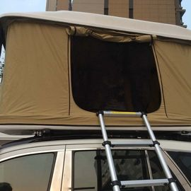 Custom 4X4 Fiberglass Car Roof Top Tent Single Layer , Rectangle Shaped