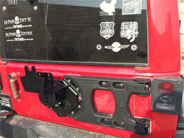 Jeep Jk Wrangler HD Hinged Carrier & Adjustable Spare Tire Mounting Kit Material: Aluminum